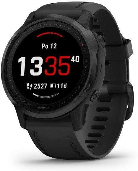 Orologi Garmin Garmin fenix6S PRO Glass, Black/Black Band (MAP/Music)