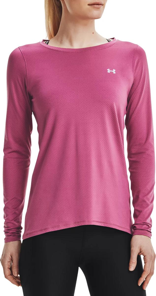 Magliette a maniche lunghe Under Armour UA HG Armour Long Sleeve-PNK